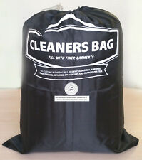 Lot of 20 Durable Black Nylon Laundry Bag With Drawstring Closure - 21 x 27