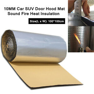1X 10MM Car SUV Truck Door Hood Mat Sound Fire Heat Insulation Cotton Durable