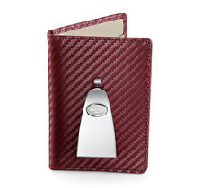 Dalvey Leather Continental Burgundy Credit Card & Money Clip