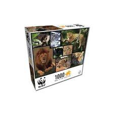 WWF Puzzle Raubkatzen (1000 Teile) Raubtiere Puzzle Löwe Tiger Lepard Panther