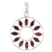fesselnde Granat 925 Sterling Silber rot Anhänger natürliche Indien de Geschenk