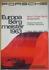 1963 Porsche Europa Bergmeister Genuine Dealer Factory Poster Original VOLZ