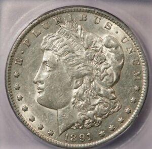 1891-CC 1891 Morgan Dollar ICG AU53 VAM-3 Top 100 Spitting eagle variety...COOL!