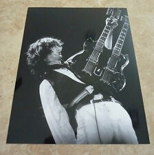 Jimmy Page Led Zeppelin Metallic Luster Finish B&W 8x10 Photo #2