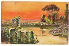 Sunset art scene Postcard