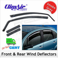 CLIMAIR Car Wind Deflectors FIAT BRAVO 5DR 2007 2008 2009 2010 2011... SET (4)