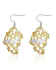 ED HARDY Stylish Earrings Made in Two Tone Stainless steel.