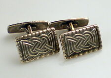 Vintage David Andersen Knot Motif Rectangle Sterling Silver Cufflinks Cuff Links