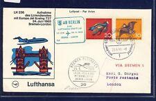 53345) LH FF Bremen-londres 24.6.65, sou a partir de Berlín con post-SST bremen!!!