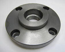 """RDGTOOLS 4"""" 100MM LATHE CHUCK BACKPLATE WITH BOXFORD THREAD 4 FIXING HOLES"""