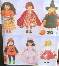 """Doll Costume pattern dress clothes 18"""" Red Riding Hood Witch Princess Pumpkin"""