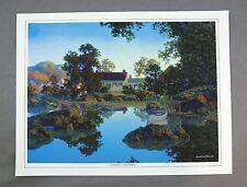 Vintage 1970's Maxfield Parrish Evening Shadows Canvas Print