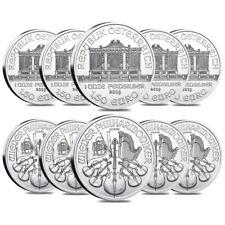 Lot of 10 - 2019 1 oz Austrian Silver Philharmonic Coin BU