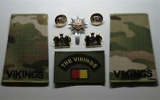 British Army Royal Anglian Regiment Cap/Collar Badges/Vikings Rank Slides & TRF