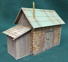 O/On3/On30 Scale Rich White Models-NEW Small Stone Warehouse Hydrocal Walls Only