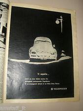 VOLKSWAGEN BEETLE MAGGIOLINO VW=PUBBLICITA'=ADVERTISING=WERBUNG=GENTE 1964/53=