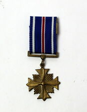 "US Military Distinguished Flying Cross Medal Miniature Replica 2.5"" WWII 1983"