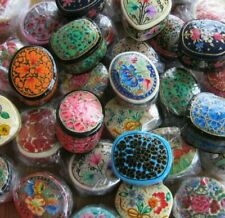 Fabulous Wholesale Job Lot Of 10 Assorted Hand Painted Russian Style Lacquer Box