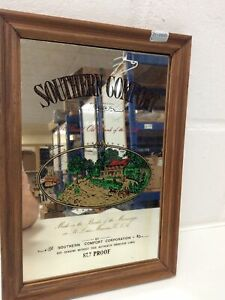 Southern Comfort Framed Mirror