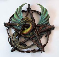 Gothic Fantasy Drachen Pentagramm - Forest Pentagram Dragon - Anne Stokes