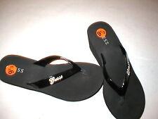 New Womens Guess Foam Platform Wedge 9.5 Crystal Logo Shoes Sandals Light Black