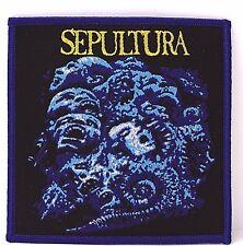 SEPULTURA CHAOS A.D. BLUE BORDER  WOVEN PATCH