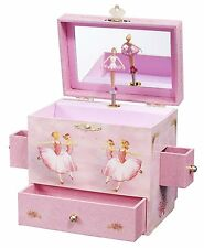 Ballerina Treasure Music Box Plays Swan Lake Dancing Figurine Inside Mirror New
