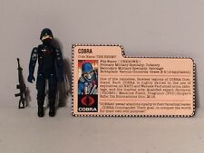 Hasbro GI Joe Cobra Soldier Trooper Complete Toy Figure Red Back File Card 1983