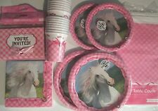 HEART MY HORSE Birthday Party Supply Pack SUPER KIT w/ Invites & Cups