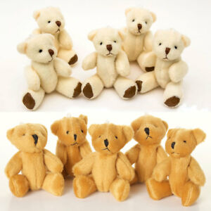 NEW - 12 X Brown & 12 X White Teddy Bears - 24 X Small Cute Cuddly Gift Present