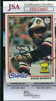 Eddie Murray 1978 Topps Rookie JSA Coa Autograph Authentic Hand Signed