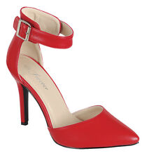 ISABEL New Women Pointy Toe dOrsay Ankle Strap Stiletto High Heel Pump Sandal US