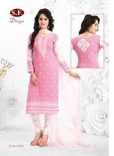 Unstitched Salwar EDH Kameez Churidar Punjabi Suit Indian Pakistani Synthetic