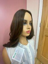 Malky Wig Sheitel European Multidirectional Human Hair Brown/Highlights