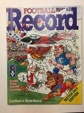 GREAT 1986 VFL GRAND FINAL RECORD CARLTON VS HAWTHORN BLUES PREMIERS