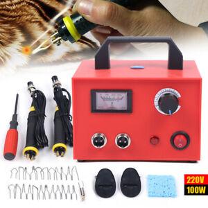 Pirografo per Legno Professionale Pirografia Kit Set 220V 100W Intaglio Sughero