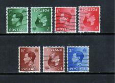 1936 Edward Viii definitive set incl. inverted watermarks (Sg457-450). Cu/Fu