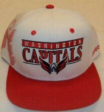 Reebok Washington Capitals Flat Bill Snap Back Hat - White, Red - New