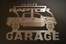 Ford Raptor Metal Garage Sign ANY Name On Top of sign Metal Garage Sign