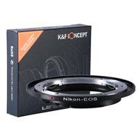 K&F Concept AI-EOS Objektiv Adapter für Nikon AI Objektiv auf Canon EOS