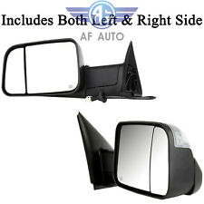 For Dodge Ram 98-01 1500/98-02 2500 3500 L/R Power Heated Telescoping Tow Mirror