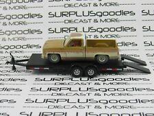 Auto World 1:64 Loose Barn Find Rusty 1973 Chevrolet Cheyenne C10 w/Car Trailer