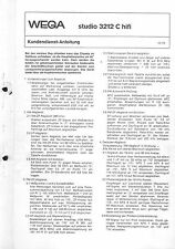 Wega Service Manual für studio 3212 C