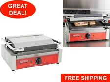Avantco P70s Smooth Commercial Restaurant Panini Sandwich Grill Press Griddle