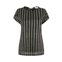 Warehouse Womens Ladies Metallic Rainbow Stripe Lurex Sparkle Party Top