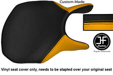 YELLOW AND BLACK AUTOMOTIVE VINYL CUSTOM FITS DUCATI 749 999 FRONT SEAT COVER