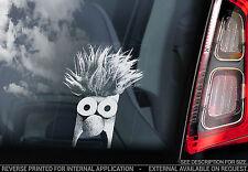 Etiqueta engomada de la ventana de coche Beaker - - The Muppet Beeker Peeper Muppets Regalo Arte Show Nuevo