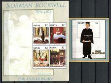 Nevis 2004 Norman Rockwell Gemälde Paintings Kunst Art 1961-64 + Block 241 MNH