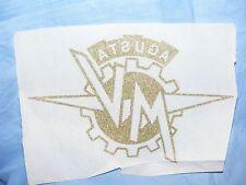Vintage Old Iron On Patch Transfer M V Augusta Motorbike Biker Advertising RARE