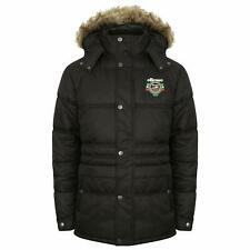 Men's ellesse parka faux fur black padded medium winter coat M 38/40 approx bnwt